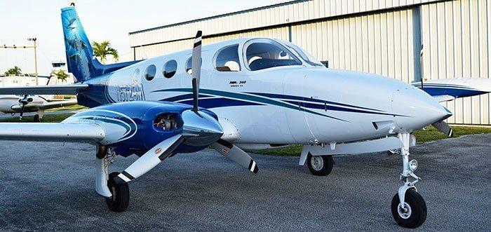Cessna 340 plane